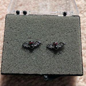 JUICY COUTURE bat stud earrings